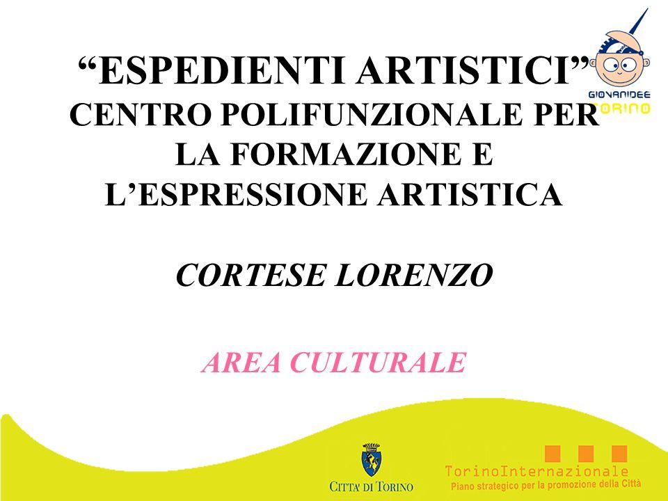 ESPEDIENTI ARTISTICI CENTRO POLIFUNZIONALE PER LA FORMAZIONE E LESPRESSIONE ARTISTICA CORTESE LORENZO AREA CULTURALE
