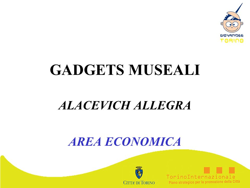 GADGETS MUSEALI ALACEVICH ALLEGRA AREA ECONOMICA