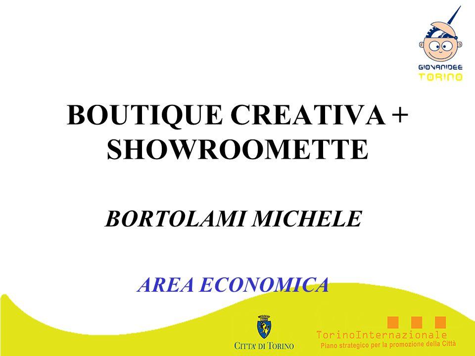 BOUTIQUE CREATIVA + SHOWROOMETTE BORTOLAMI MICHELE AREA ECONOMICA