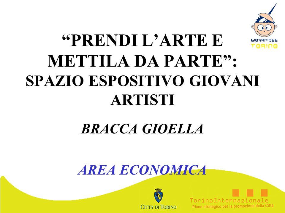 PRENDI LARTE E METTILA DA PARTE: SPAZIO ESPOSITIVO GIOVANI ARTISTI BRACCA GIOELLA AREA ECONOMICA