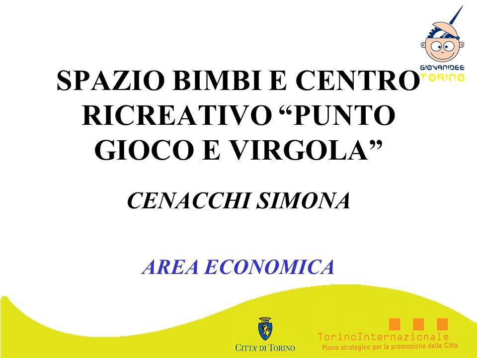 SPAZIO BIMBI E CENTRO RICREATIVO PUNTO GIOCO E VIRGOLA CENACCHI SIMONA AREA ECONOMICA
