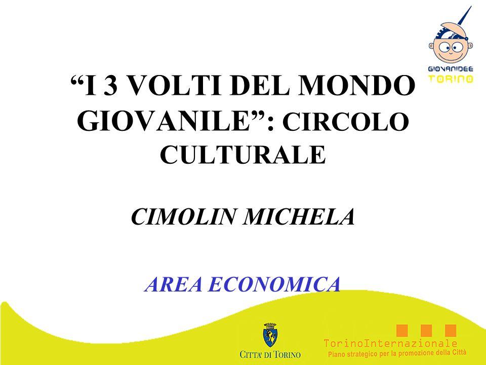 I 3 VOLTI DEL MONDO GIOVANILE: CIRCOLO CULTURALE CIMOLIN MICHELA AREA ECONOMICA