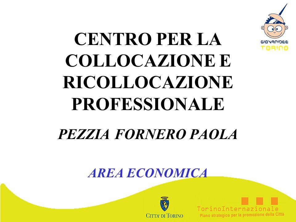 CENTRO PER LA COLLOCAZIONE E RICOLLOCAZIONE PROFESSIONALE PEZZIA FORNERO PAOLA AREA ECONOMICA