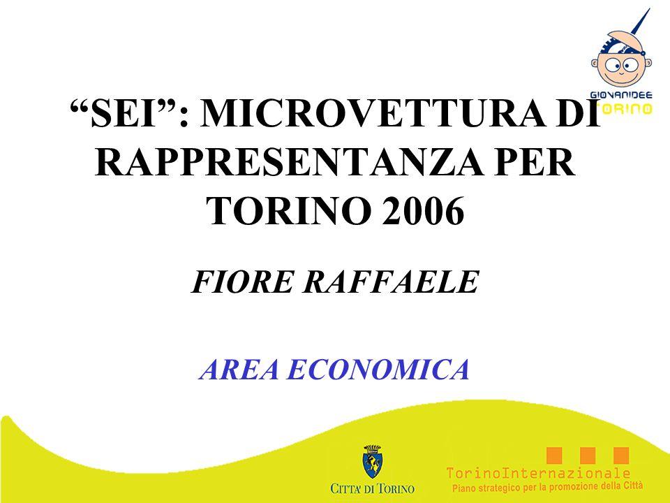 SEI: MICROVETTURA DI RAPPRESENTANZA PER TORINO 2006 FIORE RAFFAELE AREA ECONOMICA