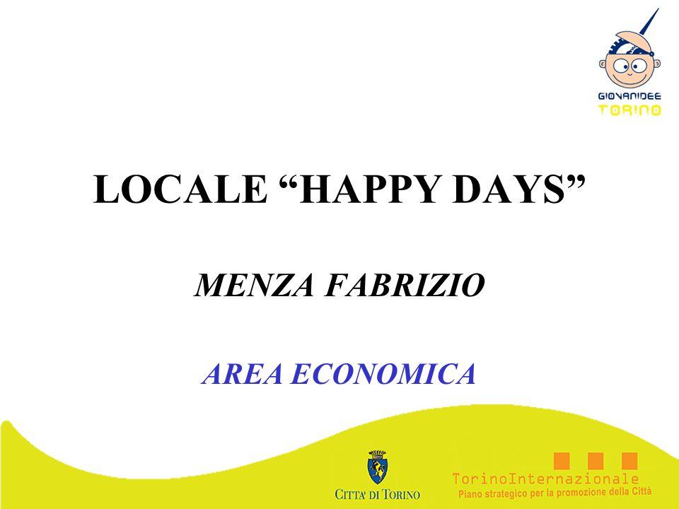 LOCALE HAPPY DAYS MENZA FABRIZIO AREA ECONOMICA