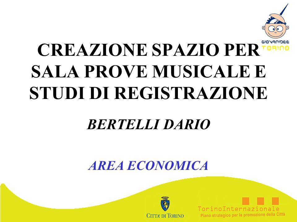 CREAZIONE SPAZIO PER SALA PROVE MUSICALE E STUDI DI REGISTRAZIONE BERTELLI DARIO AREA ECONOMICA