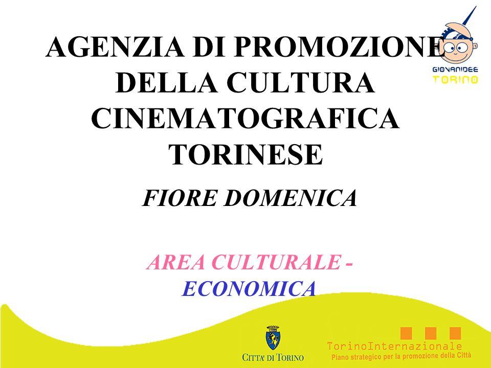 AGENZIA DI PROMOZIONE DELLA CULTURA CINEMATOGRAFICA TORINESE FIORE DOMENICA AREA CULTURALE - ECONOMICA