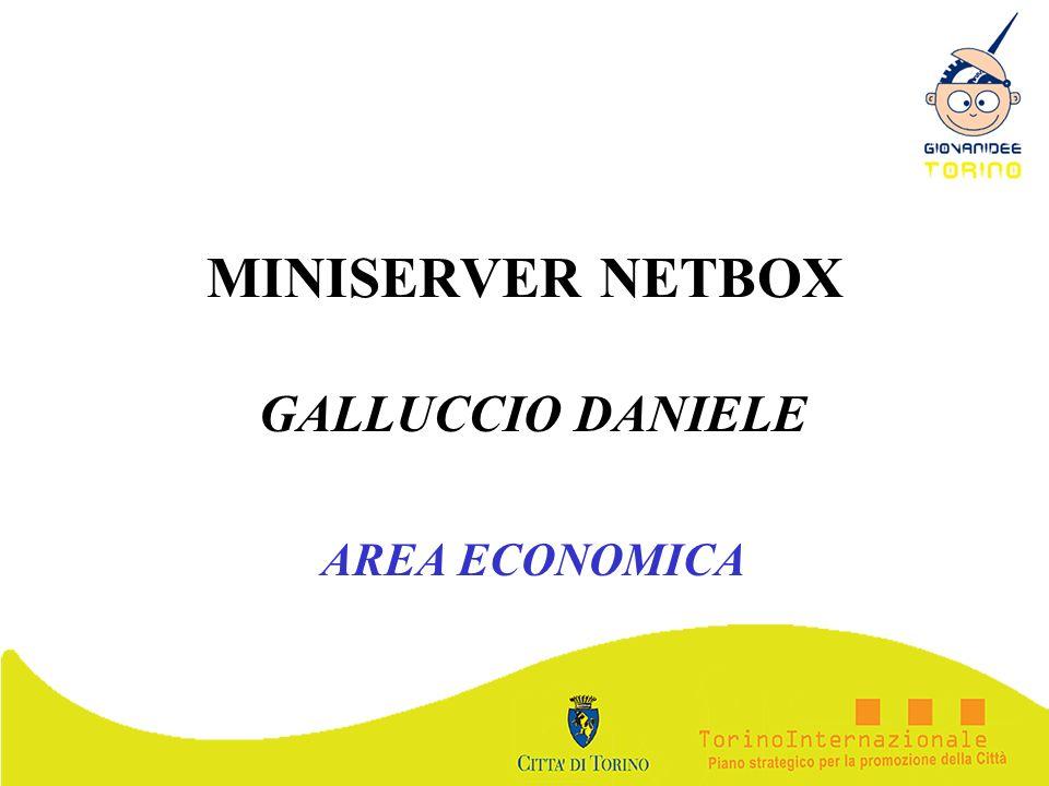 MINISERVER NETBOX GALLUCCIO DANIELE AREA ECONOMICA