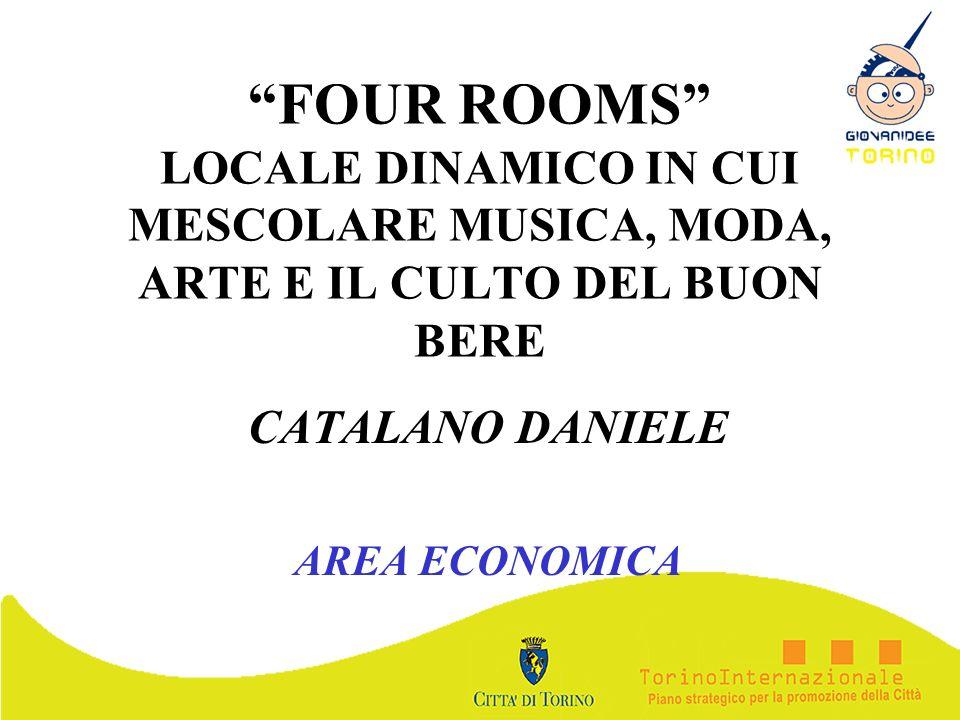 FOUR ROOMS LOCALE DINAMICO IN CUI MESCOLARE MUSICA, MODA, ARTE E IL CULTO DEL BUON BERE CATALANO DANIELE AREA ECONOMICA