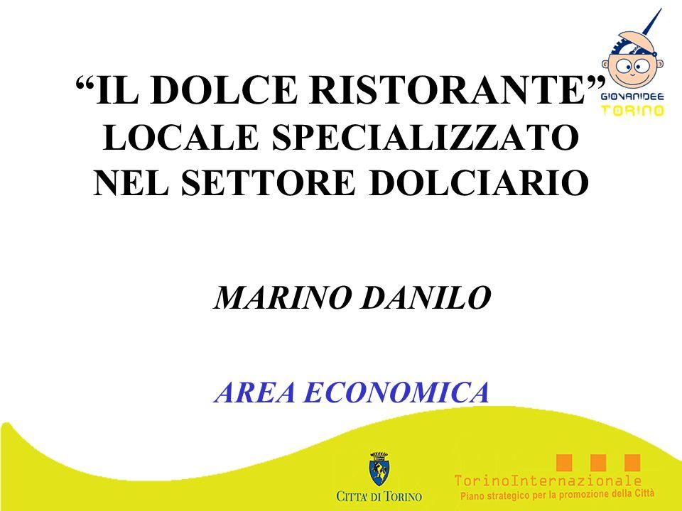 IL DOLCE RISTORANTE LOCALE SPECIALIZZATO NEL SETTORE DOLCIARIO MARINO DANILO AREA ECONOMICA