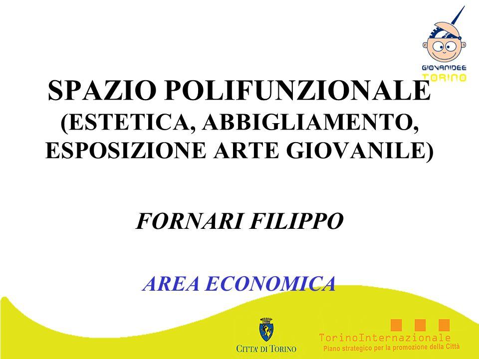 SPAZIO POLIFUNZIONALE (ESTETICA, ABBIGLIAMENTO, ESPOSIZIONE ARTE GIOVANILE) FORNARI FILIPPO AREA ECONOMICA