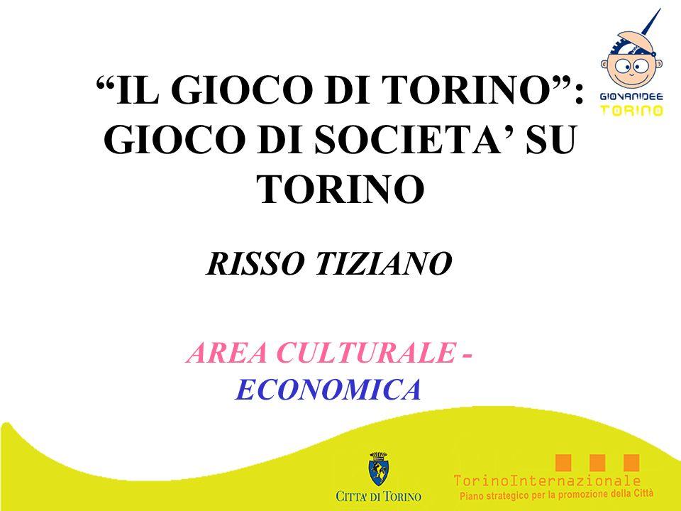 IL GIOCO DI TORINO: GIOCO DI SOCIETA SU TORINO RISSO TIZIANO AREA CULTURALE - ECONOMICA