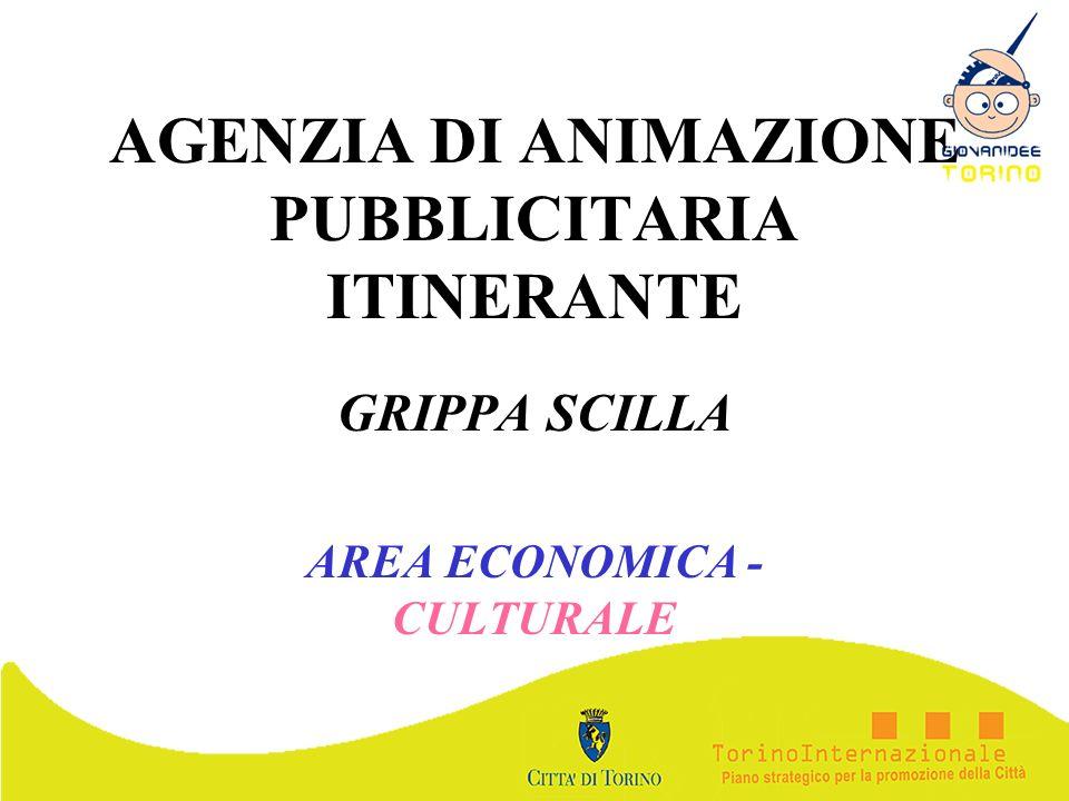 AGENZIA DI ANIMAZIONE PUBBLICITARIA ITINERANTE GRIPPA SCILLA AREA ECONOMICA - CULTURALE