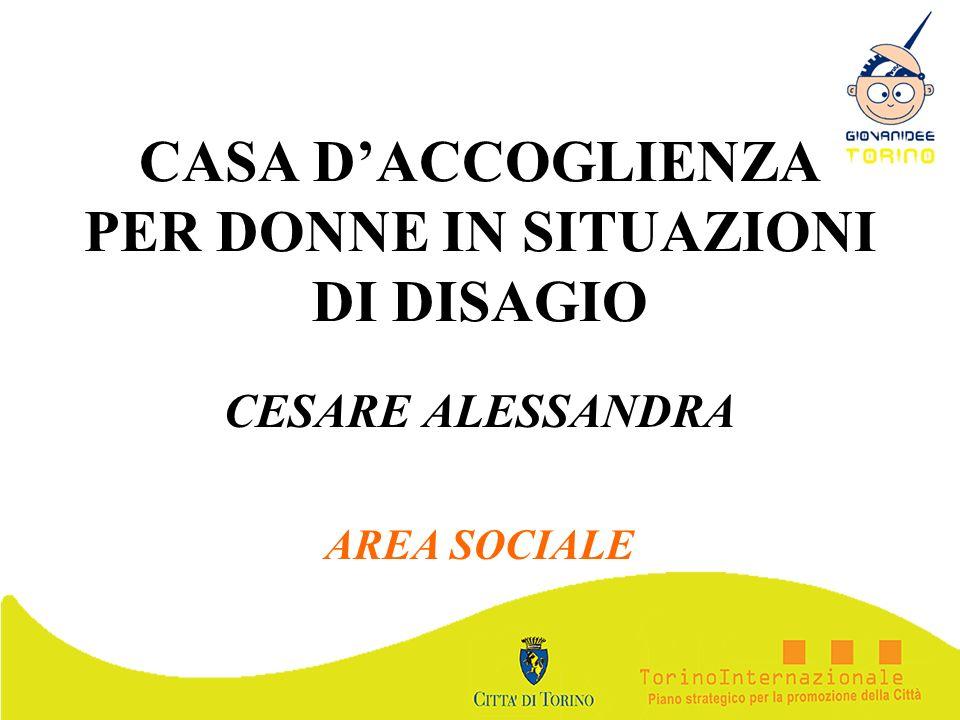 CASA DACCOGLIENZA PER DONNE IN SITUAZIONI DI DISAGIO CESARE ALESSANDRA AREA SOCIALE