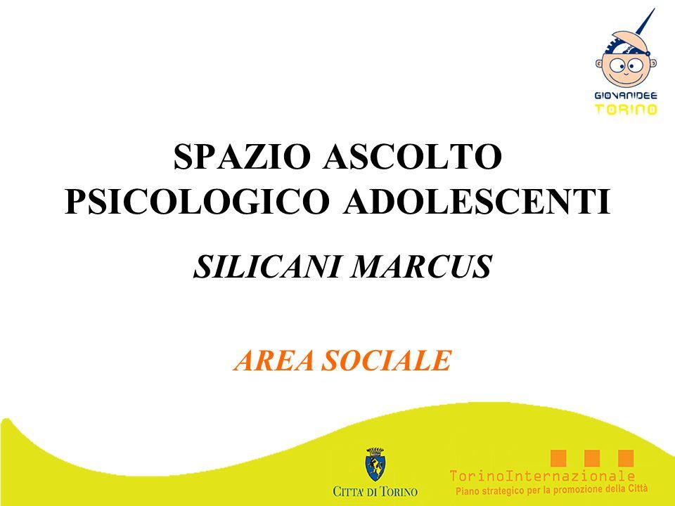 SPAZIO ASCOLTO PSICOLOGICO ADOLESCENTI SILICANI MARCUS AREA SOCIALE
