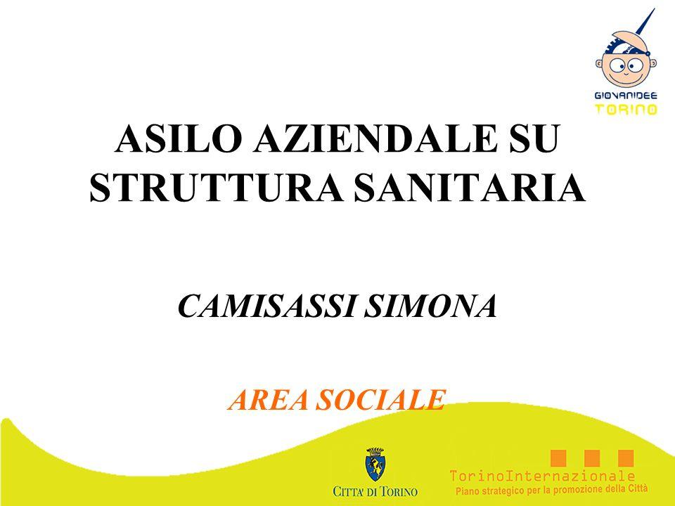 ASILO AZIENDALE SU STRUTTURA SANITARIA CAMISASSI SIMONA AREA SOCIALE