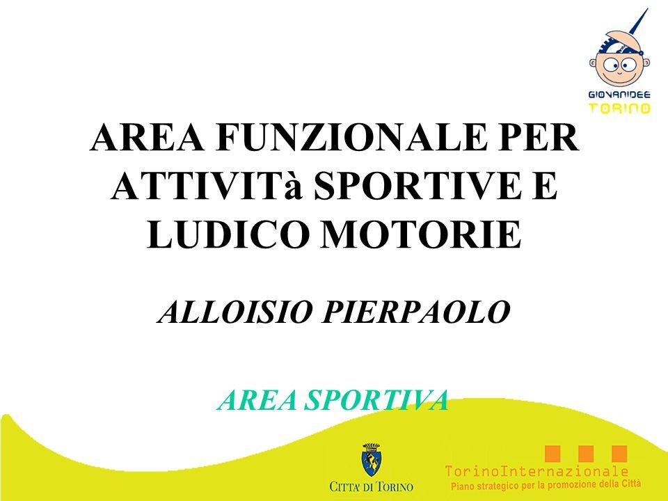 AREA FUNZIONALE PER ATTIVITà SPORTIVE E LUDICO MOTORIE ALLOISIO PIERPAOLO AREA SPORTIVA
