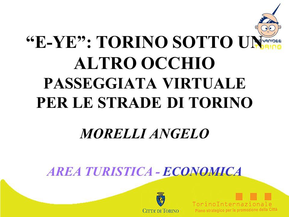 E-YE: TORINO SOTTO UN ALTRO OCCHIO PASSEGGIATA VIRTUALE PER LE STRADE DI TORINO MORELLI ANGELO AREA TURISTICA - ECONOMICA