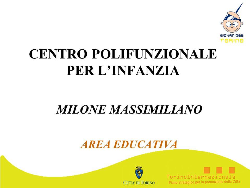 CENTRO POLIFUNZIONALE PER LINFANZIA MILONE MASSIMILIANO AREA EDUCATIVA