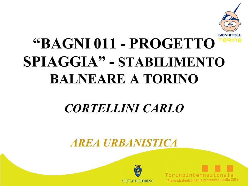 BAGNI 011 - PROGETTO SPIAGGIA - STABILIMENTO BALNEARE A TORINO CORTELLINI CARLO AREA URBANISTICA