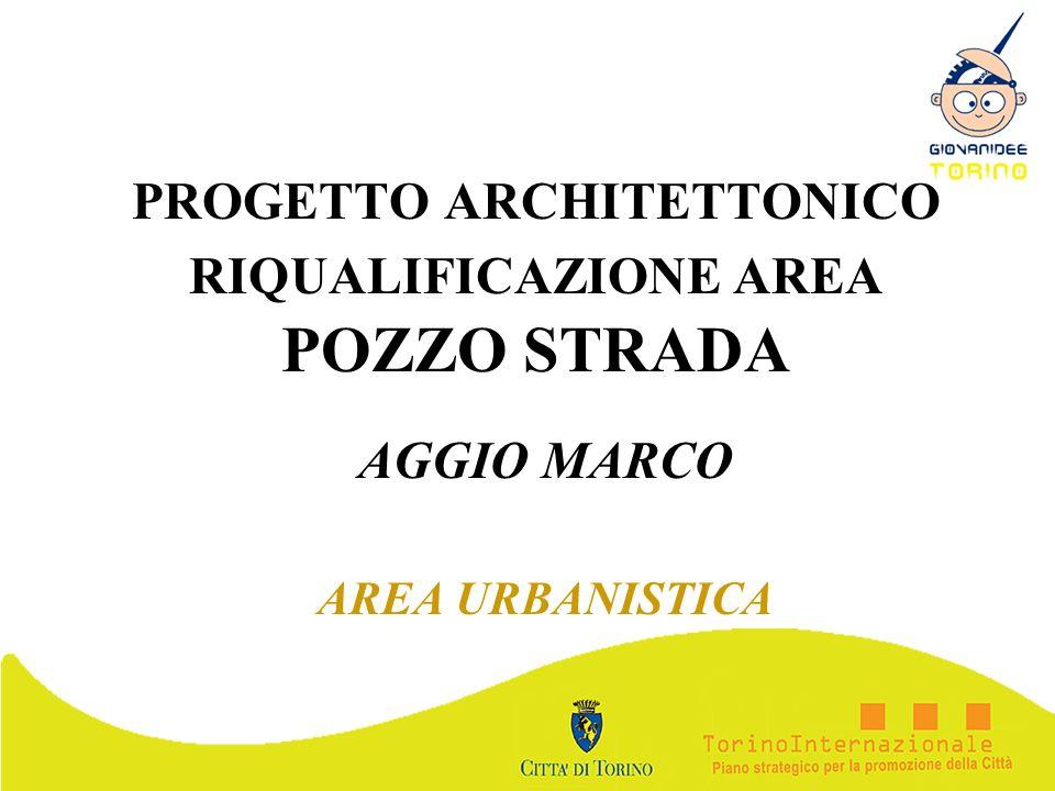 PROGETTO ARCHITETTONICO RIQUALIFICAZIONE AREA POZZO STRADA AGGIO MARCO AREA URBANISTICA