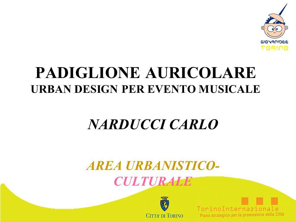 PADIGLIONE AURICOLARE URBAN DESIGN PER EVENTO MUSICALE NARDUCCI CARLO AREA URBANISTICO- CULTURALE
