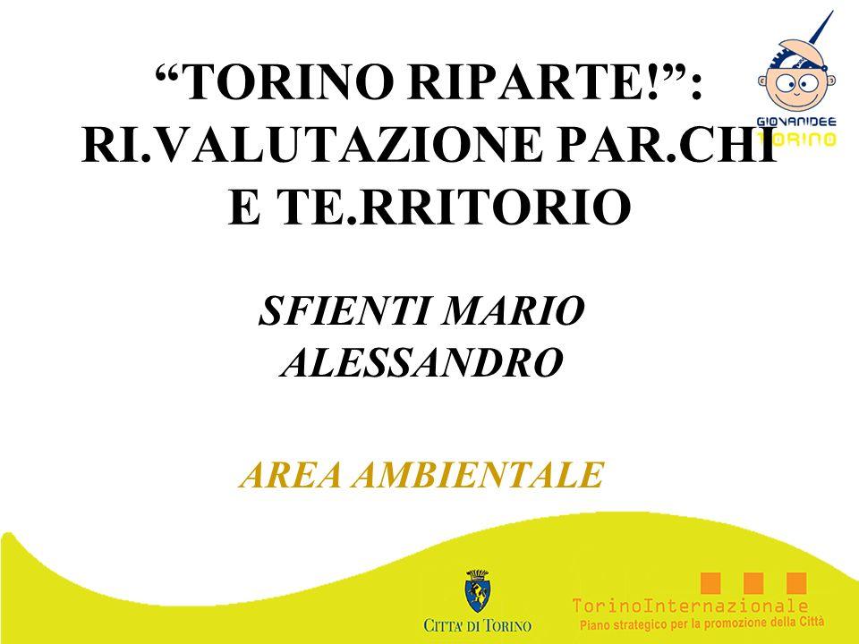TORINO RIPARTE!: RI.VALUTAZIONE PAR.CHI E TE.RRITORIO SFIENTI MARIO ALESSANDRO AREA AMBIENTALE