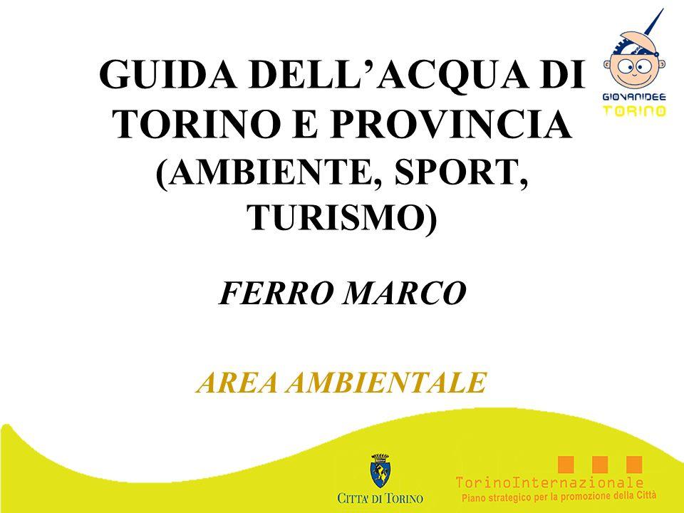 GUIDA DELLACQUA DI TORINO E PROVINCIA (AMBIENTE, SPORT, TURISMO) FERRO MARCO AREA AMBIENTALE