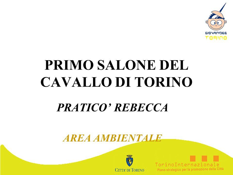PRIMO SALONE DEL CAVALLO DI TORINO PRATICO REBECCA AREA AMBIENTALE