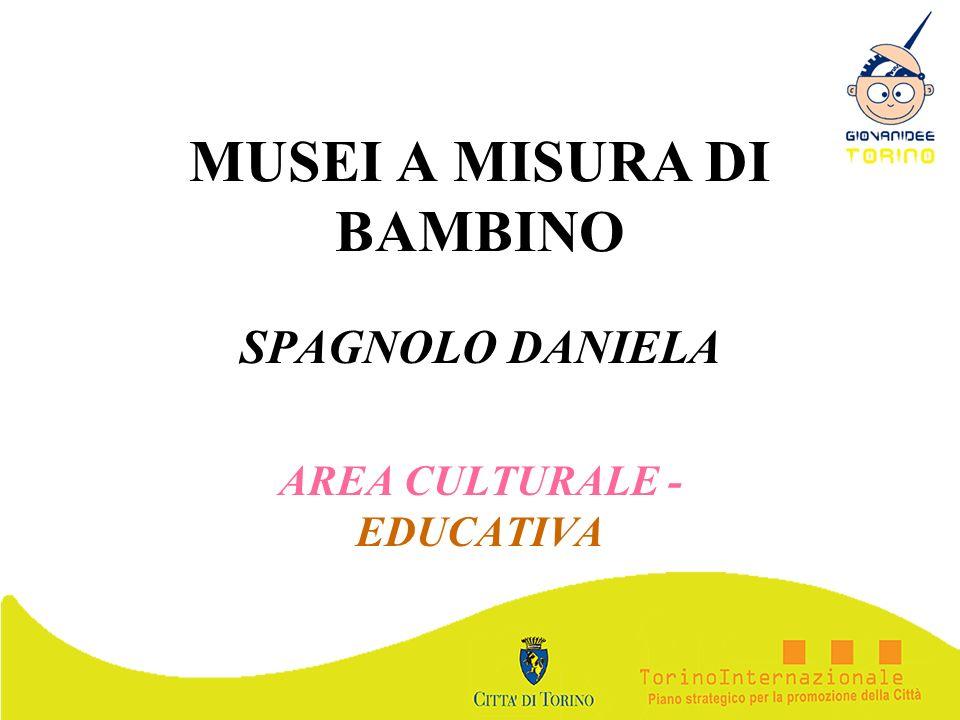 MUSEI A MISURA DI BAMBINO SPAGNOLO DANIELA AREA CULTURALE - EDUCATIVA