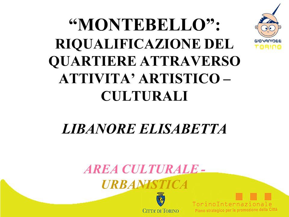 MONTEBELLO: RIQUALIFICAZIONE DEL QUARTIERE ATTRAVERSO ATTIVITA ARTISTICO – CULTURALI LIBANORE ELISABETTA AREA CULTURALE - URBANISTICA