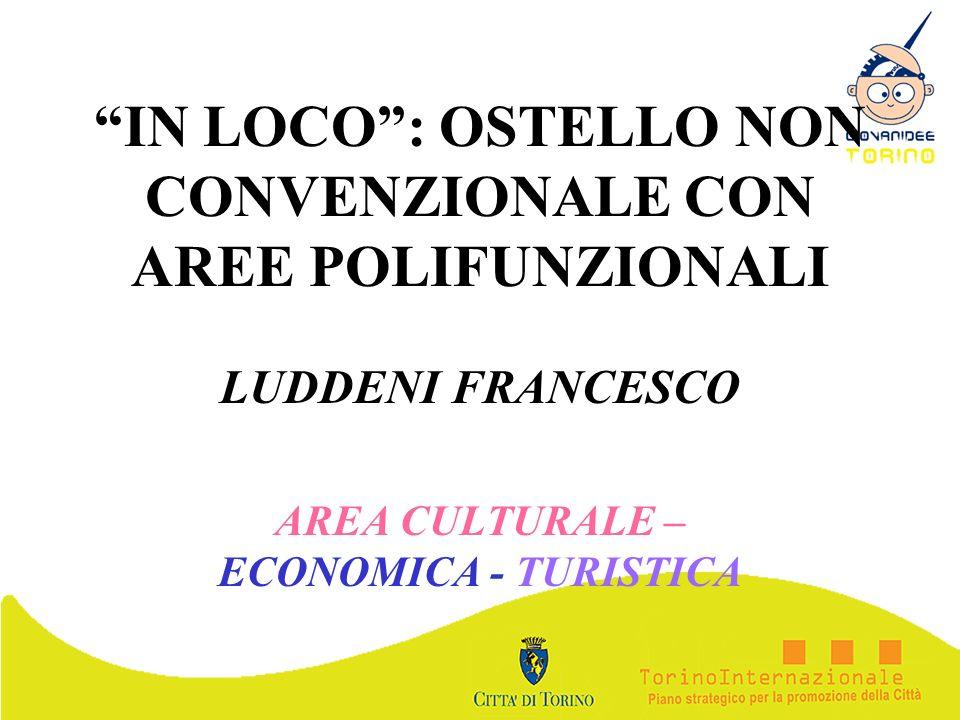 IN LOCO: OSTELLO NON CONVENZIONALE CON AREE POLIFUNZIONALI LUDDENI FRANCESCO AREA CULTURALE – ECONOMICA - TURISTICA