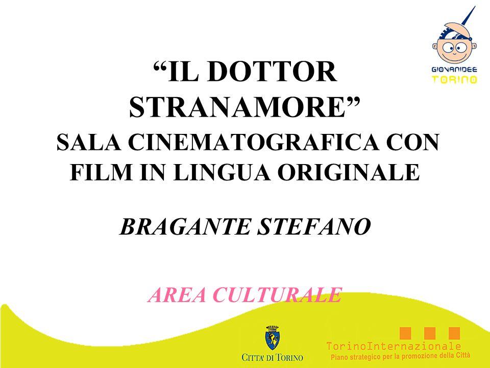 IL DOTTOR STRANAMORE SALA CINEMATOGRAFICA CON FILM IN LINGUA ORIGINALE BRAGANTE STEFANO AREA CULTURALE