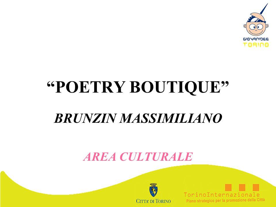 POETRY BOUTIQUE BRUNZIN MASSIMILIANO AREA CULTURALE