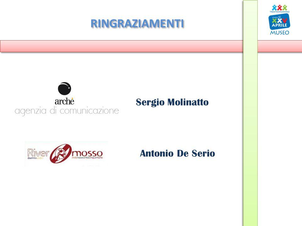 RINGRAZIAMENTI Sergio Molinatto Antonio De Serio