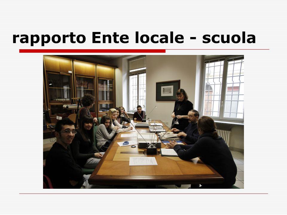 rapporto Ente locale - scuola