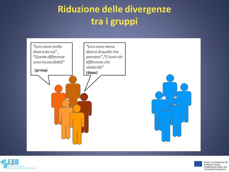 43 Riduzione delle divergenze tra i gruppi