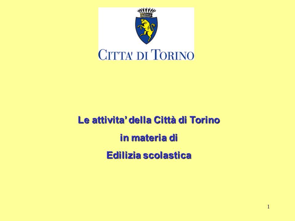 1 Le attivita della Città di Torino in materia di Edilizia scolastica