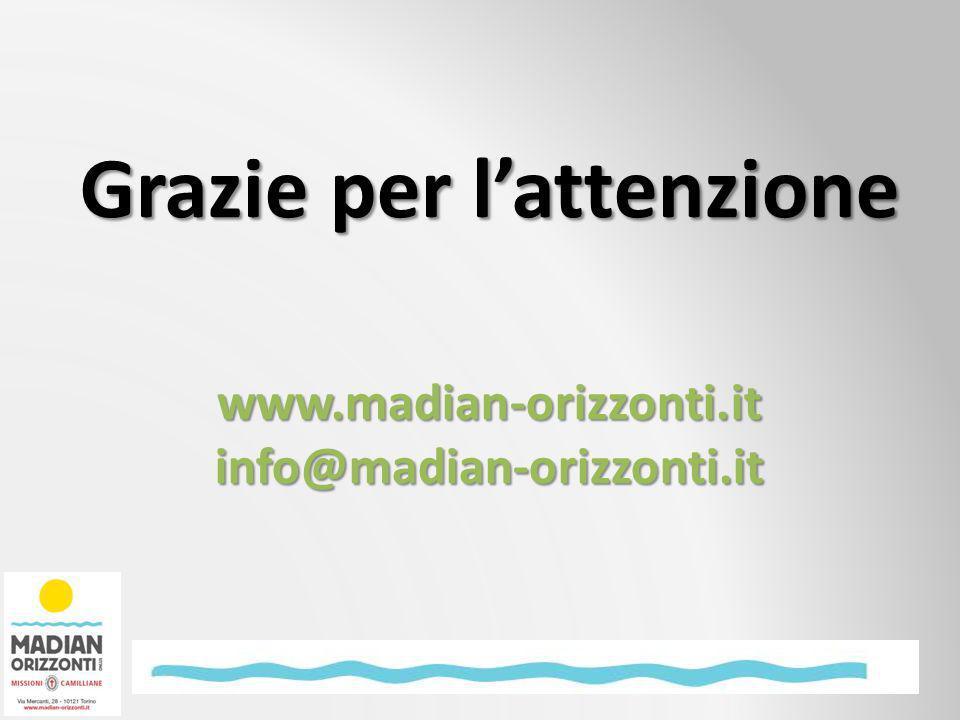 Grazie per lattenzione www.madian-orizzonti.itinfo@madian-orizzonti.it