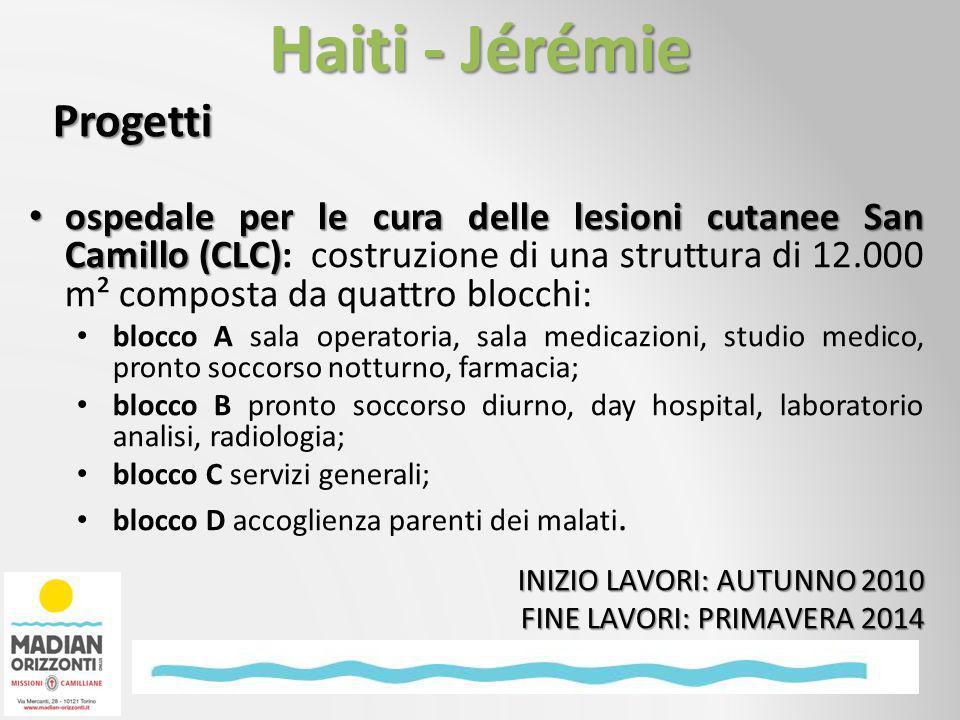 Progetti ospedale per le cura delle lesioni cutanee San Camillo (CLC) ospedale per le cura delle lesioni cutanee San Camillo (CLC): costruzione di una