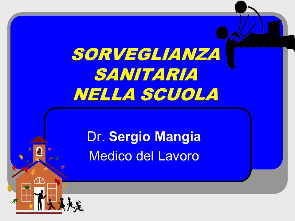 SORVEGLIANZA SANITARIA NELLA SCUOLA Dr. Sergio Mangia Medico del Lavoro