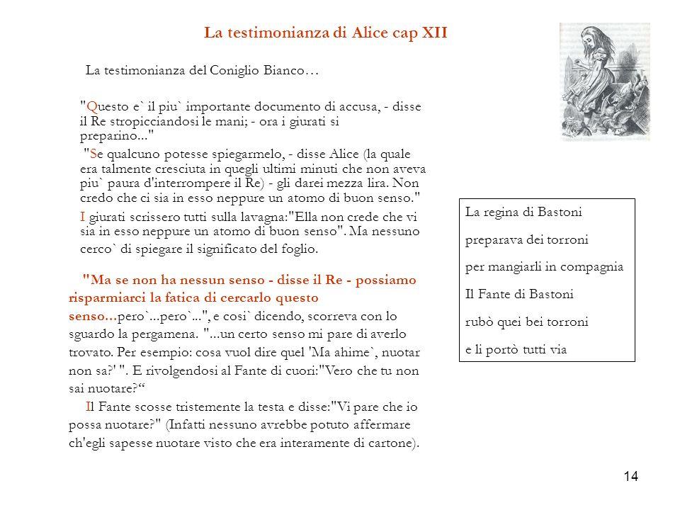 14 La testimonianza di Alice cap XII