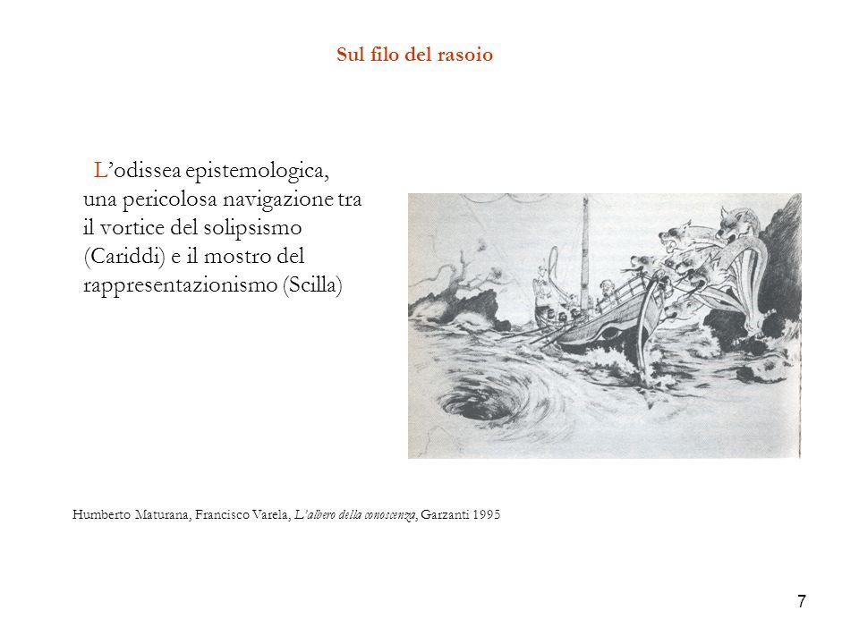 7 Sul filo del rasoio Lodissea epistemologica, una pericolosa navigazione tra il vortice del solipsismo (Cariddi) e il mostro del rappresentazionismo
