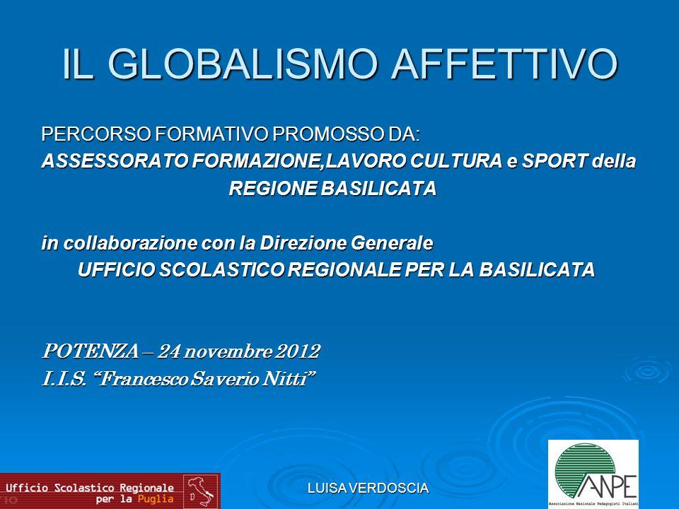 LUISA VERDOSCIA M.MONTESSORI e IL GLOBALISMO AFFETTIVO 1.