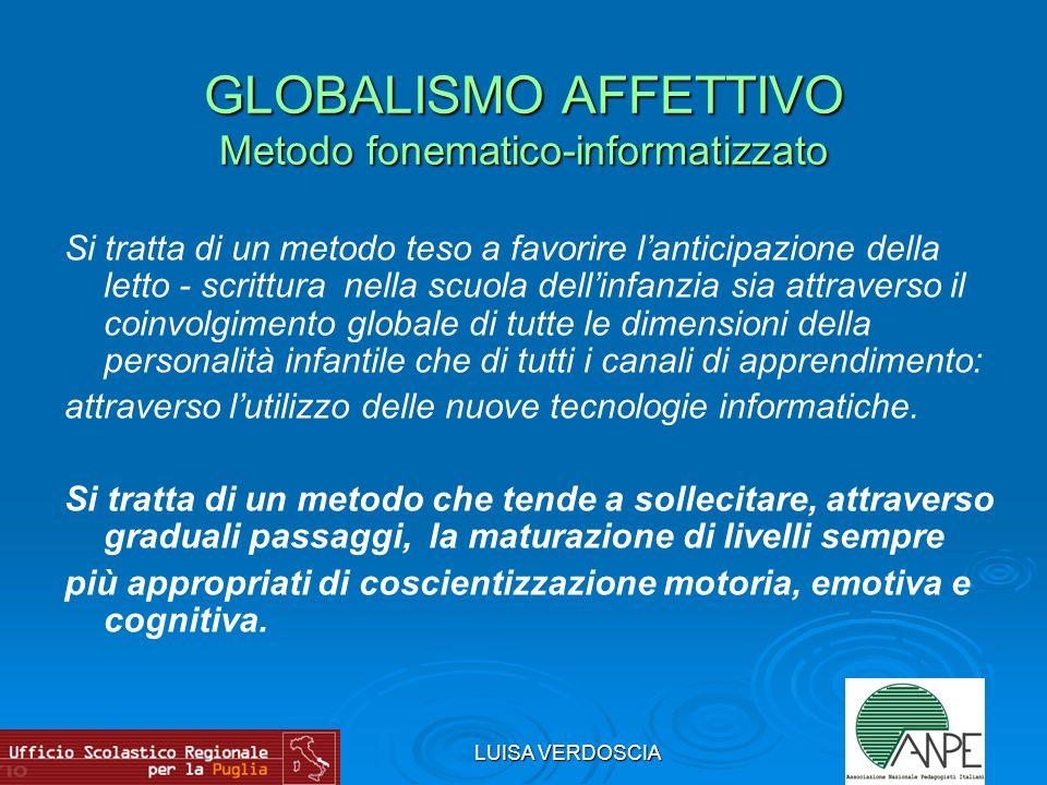 LUISA VERDOSCIA M.MONTESSORI- R. e C. AGAZZI- J. PIAGET- L.