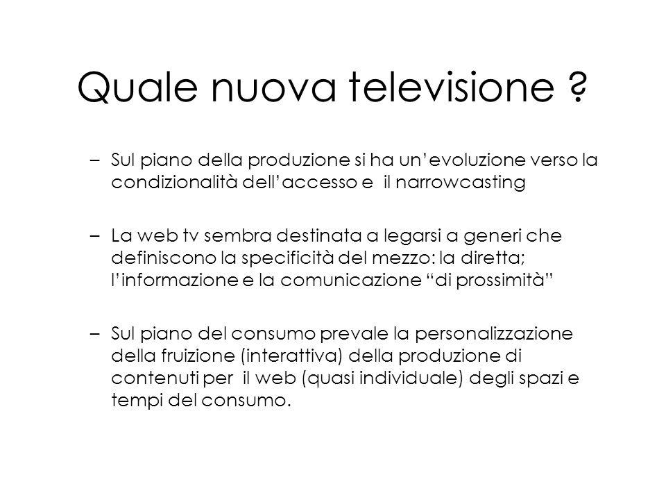 Quale nuova televisione .