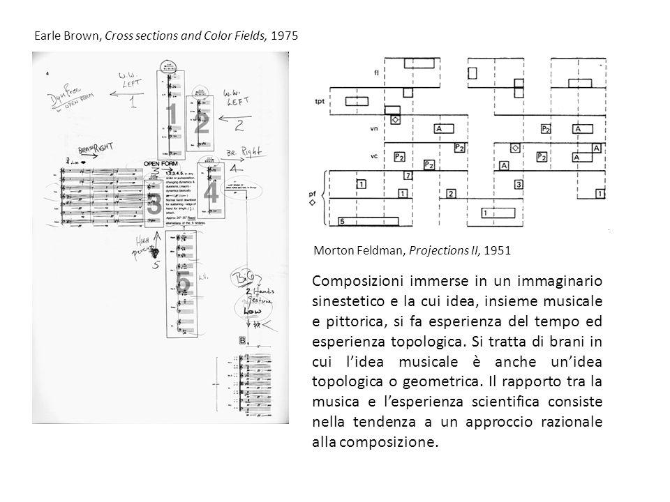 Composizioni immerse in un immaginario sinestetico e la cui idea, insieme musicale e pittorica, si fa esperienza del tempo ed esperienza topologica.