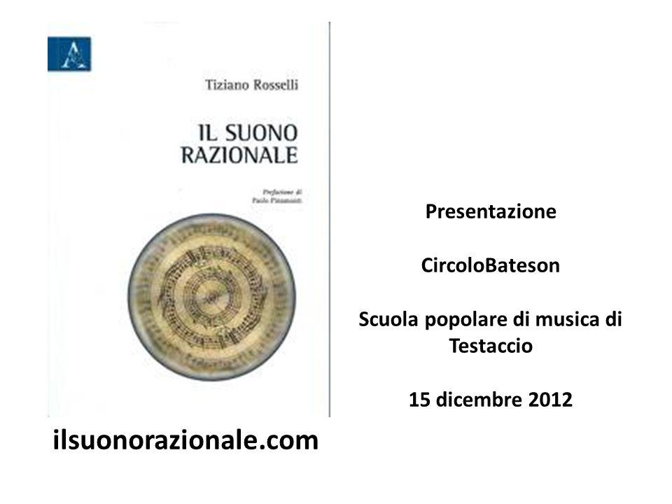Presentazione CircoloBateson Scuola popolare di musica di Testaccio 15 dicembre 2012 ilsuonorazionale.com