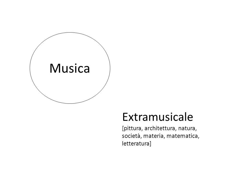 Musica Extramusicale [pittura, architettura, natura, società, materia, matematica, letteratura]
