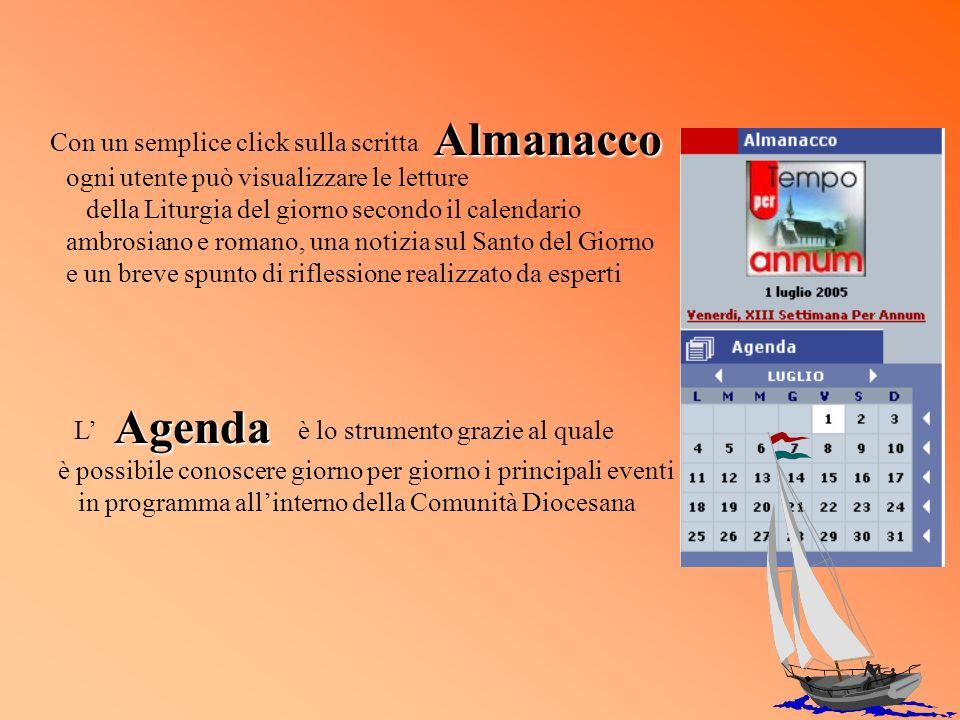 ogni utente può visualizzare le letture della Liturgia del giorno secondo il calendario ambrosiano e romano, una notizia sul Santo del Giorno e un bre